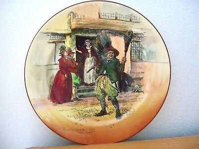 Royal Doulton   THE BROOM MAN COLLECTOR RACK PLATE