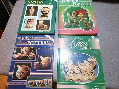 Lot Collector/Value Books Nippon Porcelain, Watt/Metlox Pottery, Lefton China do