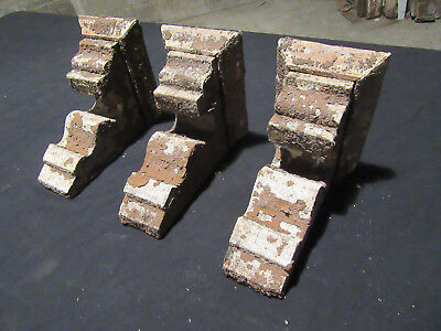 ~ Lot Of 3 Ornate Victorian Corbels ~ 8 Inches Tall ~ Architectural Salvage