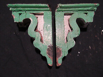 ~ Pair Of Ornate Victorian Corbels ~ 15 Inches Tall ~ Architectural Salvage