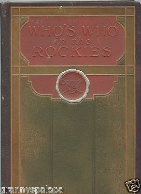 Vintage 1923-Who's Who in the Rockies--Denver Press Club-Notable Biographies