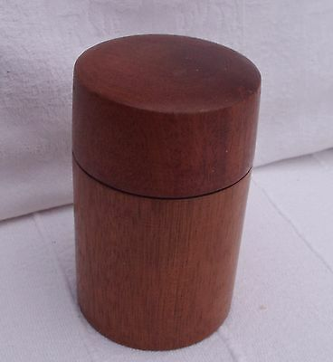 Small Lidded Wood Pot Signed Gh