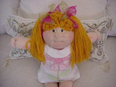 Cabbage Patch Soft Sculpture Girl With Big Nose So Cute!