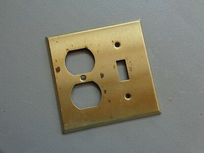 Vintage Original Heavy Solid Brass Outlet & Light Switch Cover Plate