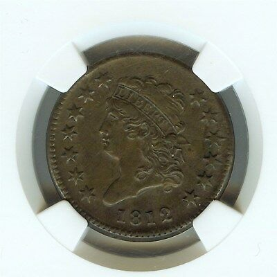 1812 Classic Head Large Cent  Ngc Au55 Brown  Rare!