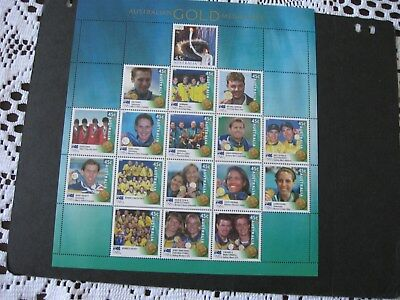 MINT UNHINGED 2000 AUSTRALIAN 17 GOLD MEDALLISTS [Out of Year Book].