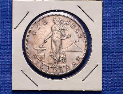 1908 One Peso Phillipines/US. WWII Coinage. Silver. No Reserve.