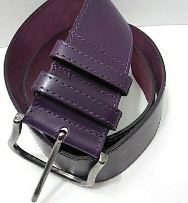 Bijenkorf accessories purple leather belt large