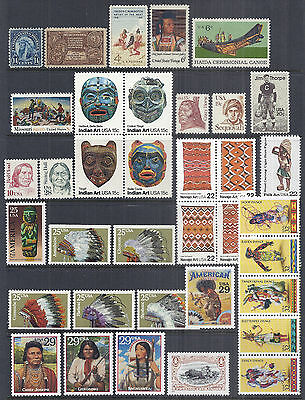 1931-1998 US Native American Indian Collection of 36 - MNH w/ 3209c*