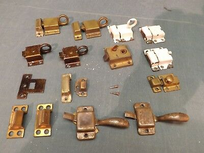 Mixed Lot Of Vintage Window Hardware Latches Side Lock