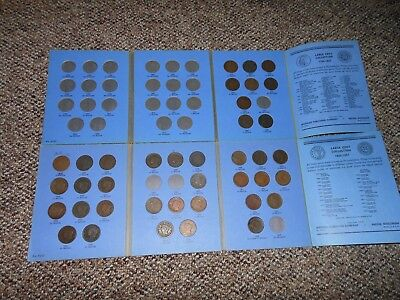 Partial Set Of Large Cents 1816-1856  In Two Whitman Folders  38 Coins