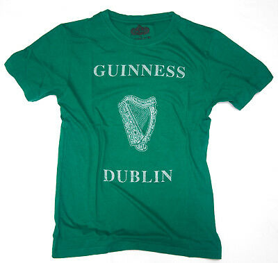 """Guinness Beer """"Guinness Dublin"""" with Harp Logo Design T-Shirt by Red Jacket"""