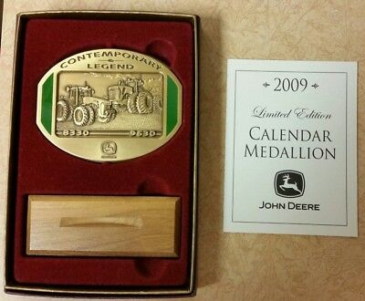 NEW John Deere  2009 Calendar Medallion Contemporary 4th  9630 8330 Tractor