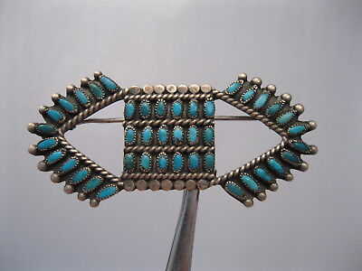 Lot 71 - Great Vintage Zuni Silver & Turquoise Pin / Brooch