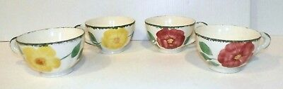 BLUE RIDGE SOUTHERN POTTERIES  Flower Ring Set of 4 Coffee Cups