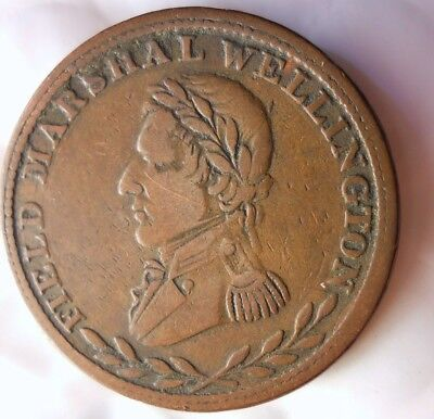 1813 CANADA (LOWER CANADA) 1/2 PENNY - VERY RARE TYPE COIN - + Value- Lot #J17