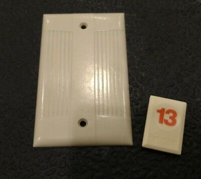 1 Ivory Vtg Bakelite Ribbed Deco Single Gang Eagle Tuxedo Blank Plate Cover O13