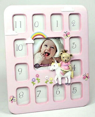 BABY Girl Teddy Prince 1st Year 12 Month PHOTO FRAME COLLAGE Birthday Newborn