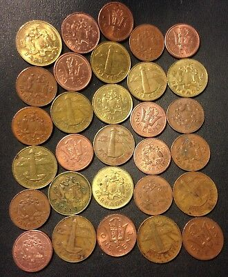 Old Barbados Coin Lot - 30 Lower Mintage Coins - Lot #J17