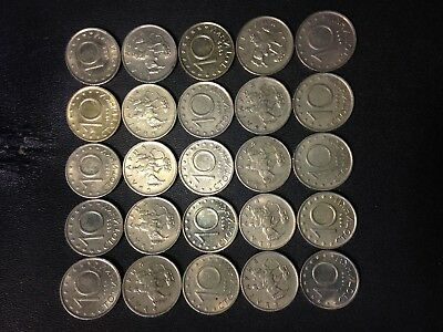 Old Bulgaria Coin Lot - 10 STOTINKI - 25 Excellent Uncommon Coins - Lot #J17