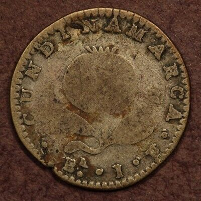 Colombia - Cundinamarca Real 1821-BaJF Silver G+