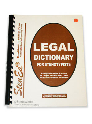 Stenograph StenEd Realtime Legal Dictionary for Stenotypists NEW Free Shipping