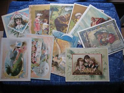 (10) Large 1800's Advertising Trade Cards Lion Coffee McLaughlin OH IL hj3709