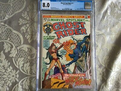Marvel Spotlight 11--Ghost Rider!  Death of Witch-Woman! CGC 8.0