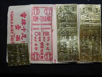 M109 Vietnam Kim Thanh Gold One Tael .999 Fine 37.5g Total in Orig. Wrapper
