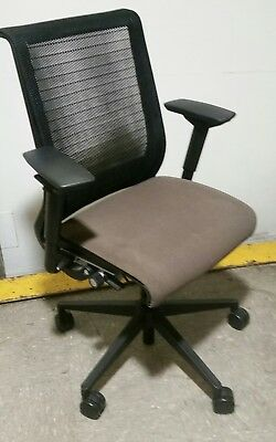 Steelcase leap v2 office chair black fabric freshly - Steelcase leap ergonomic office chair ...