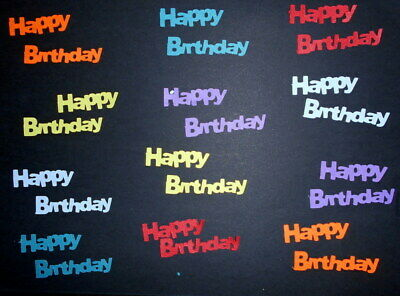 *HAPPY BIRTHDAY* Textured  Cardstock Die-cuts -  Scrapbooking/Cardmaking