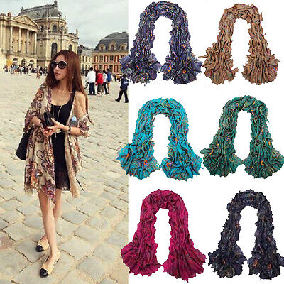Hot Dignity Women Girls Colorful Long Soft Silk Chiffon Shawl Scarves Wraps