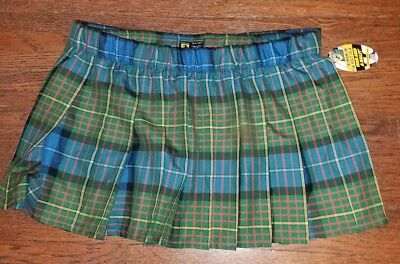 ☆☆NWT☆ Men's SPORT KILT Sz XL Green Blue Red Yellow Black Plaid