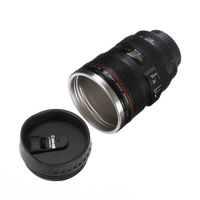 Caniam Camera Canon EF 24-105mm Lens Stainless Steel Tea Mug Cup w/ Drinking Lid