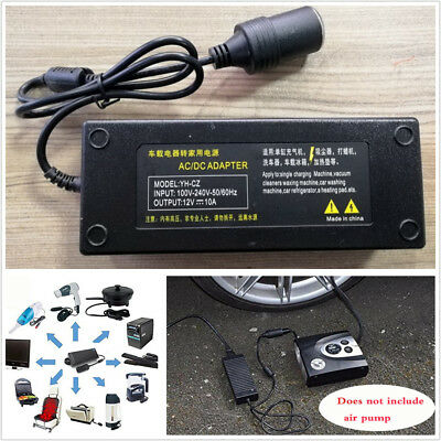 12V 120W AC to DC Power Adapter Converter Car Cigarette Lighter Charger US Plug