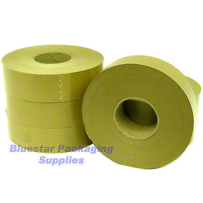 Gummed Paper Water Activated Tape 200m x 50mm Strong 70gsm