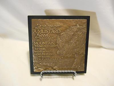 Lighthouse Christian Products Sculpture Wall Placque Matthew 17:20 Tree