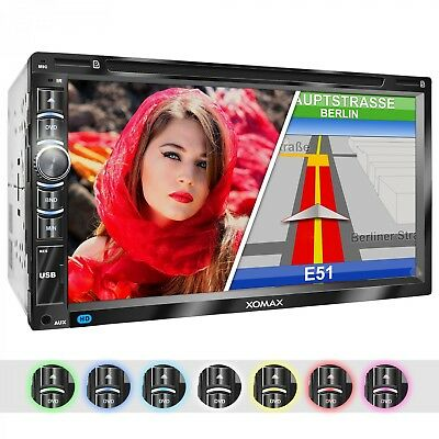 "Autoradio Mit Navi Gps Dvd Cd Usb Sd Bluetooth 6,95""kapacitivem Touchscreen 2Din"