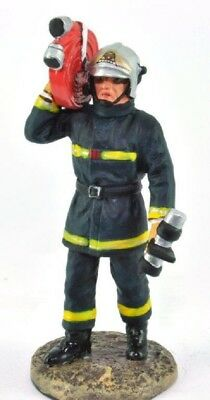 Firefighter Figurine Fireman Paris France 2003 Metal Del Prado 1/32 2.75""