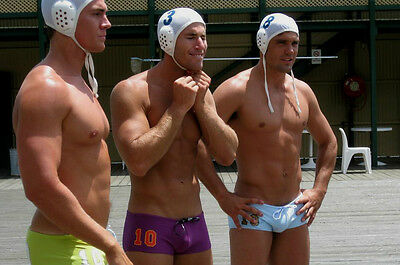 Shirtless Muscular Male Swimmer Polo Team Jocks Muscle Dudes PHOTO 4X6 P1801