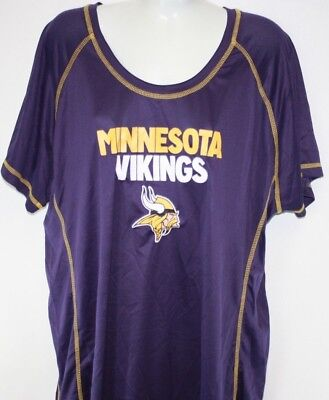 NEW Womens NFL Team Apparel Minnesota Vikings Purple Synthetic Football  Shirt cbf91d8961