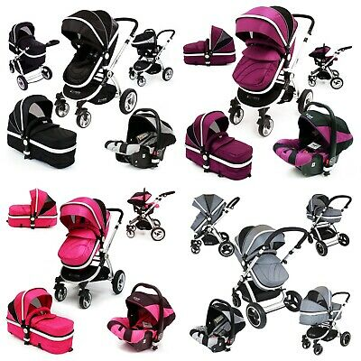 iSafe 3 in 1 Pram Travel System, With Optional Extras