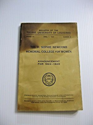 1922 Sophie Newcomb College Women William & Ellsworth Woodward - Founder Pottery