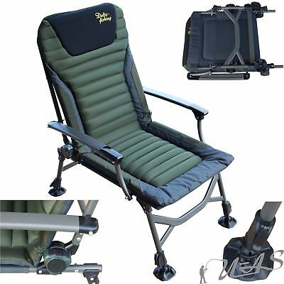 Delta Fishing XL Luxus Aluminium Karpfenstuhl Angler Stuhl Angelstuhl Chair Sha