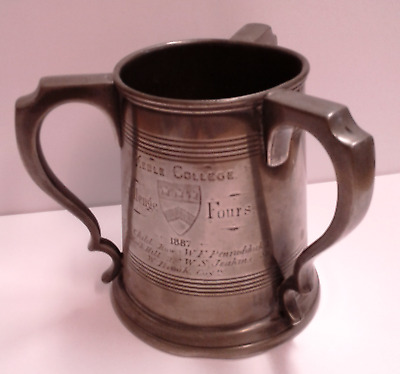 James Dixon & Sons Pewter Tankard 1887 Kebble College (038)