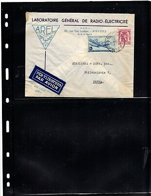 Belgium advertising cover (radio-electric) to United States