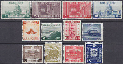 JAPAN Nippon 1936/42 sets Parlament, Founding Empire+ Anniv. Manchukuo MNH L@@K!