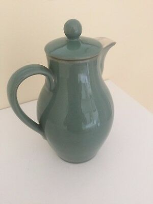 Denby Manor Green Coffee Pot 2   Pint Stoneware