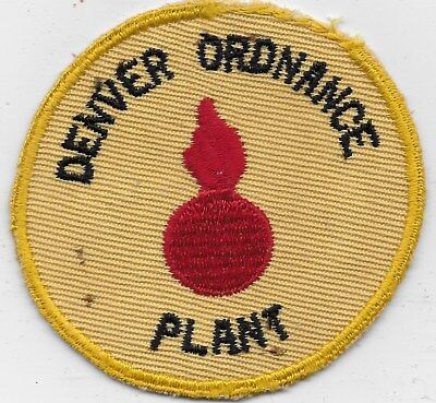 "Ex/rare Original Wwii ""denver, Ordnance Plant"" Patch - Embroidered On Twill"