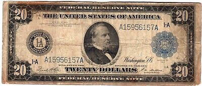 Fr.967 $20 1914 BOSTON FEDERAL RESERVE NOTE VERY GOOD
